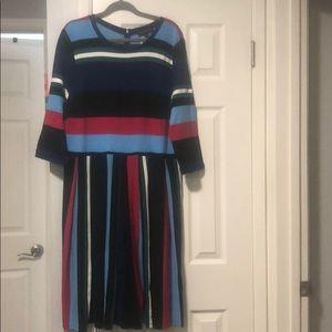 Eloquii Striped Knit Dress